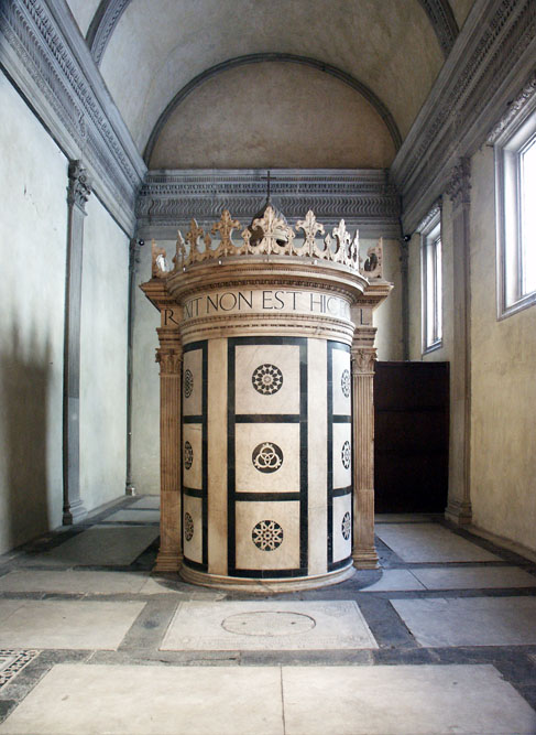 Alberti's Tempietto of the Holy Sepulchre, Florence, 1438–43.