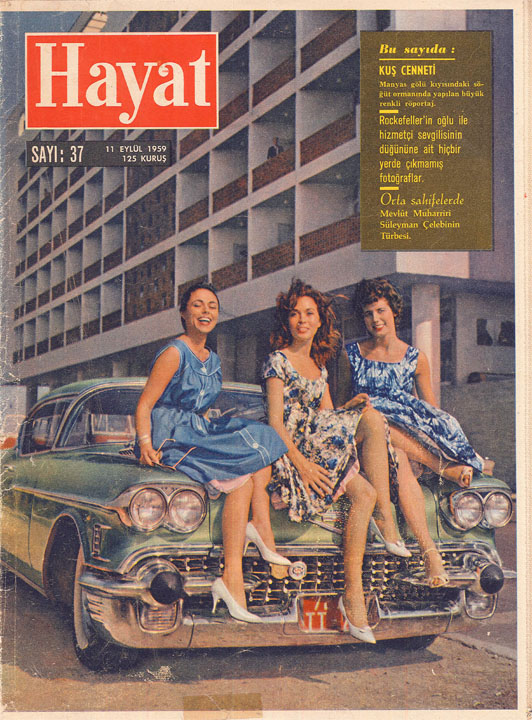 The Istanbul Hilton on the cover of the weekly Hayat, 1959.